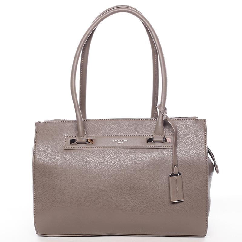 Elegantní dámská kabelka přes rameno tmavá taupe - David Jones Angie
