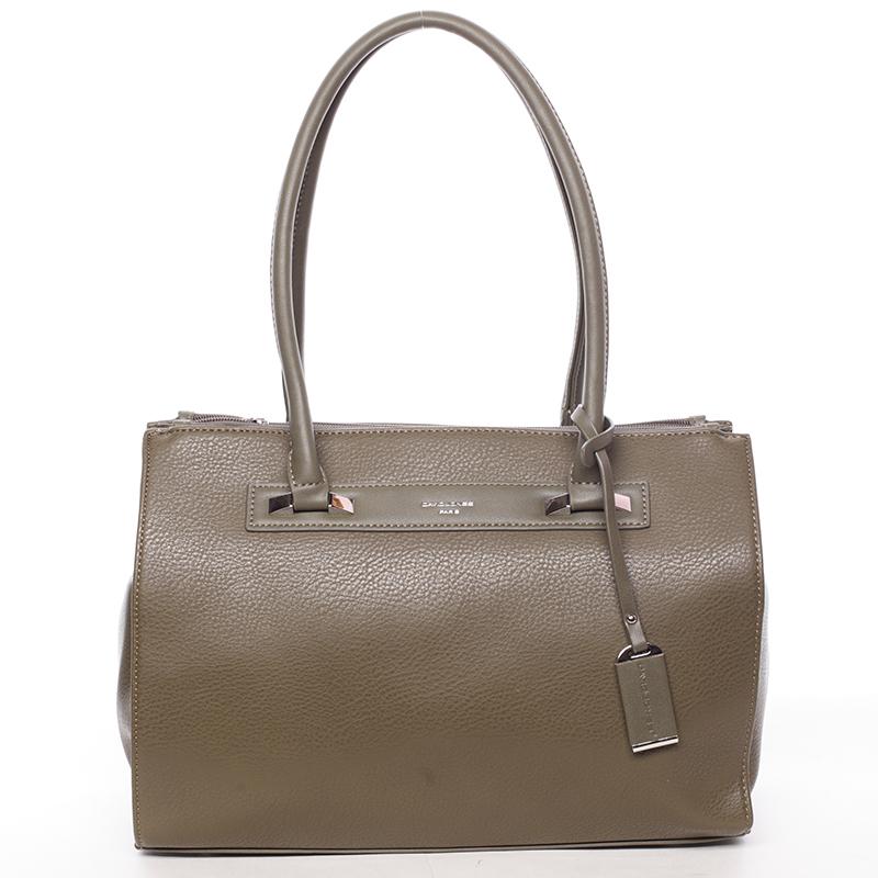 Elegantní dámská kabelka přes rameno khaki - David Jones Angie