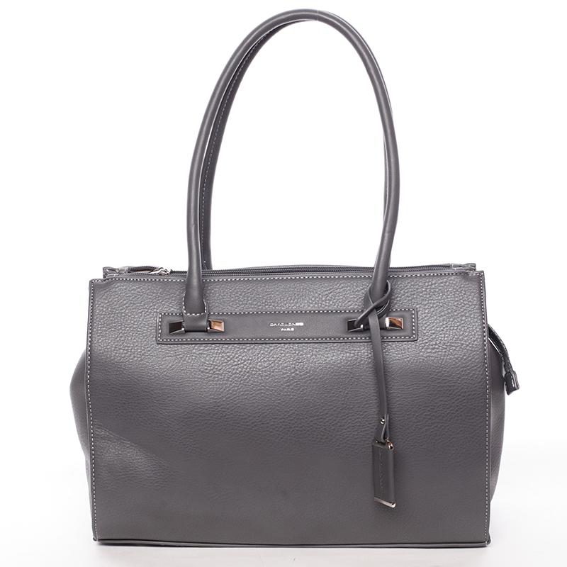 Elegantní dámská kabelka přes rameno tmavá šedá - David Jones Angie