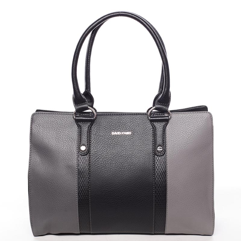 Luxusní dámská kabelka do ruky černošedá - David Jones Hezeka
