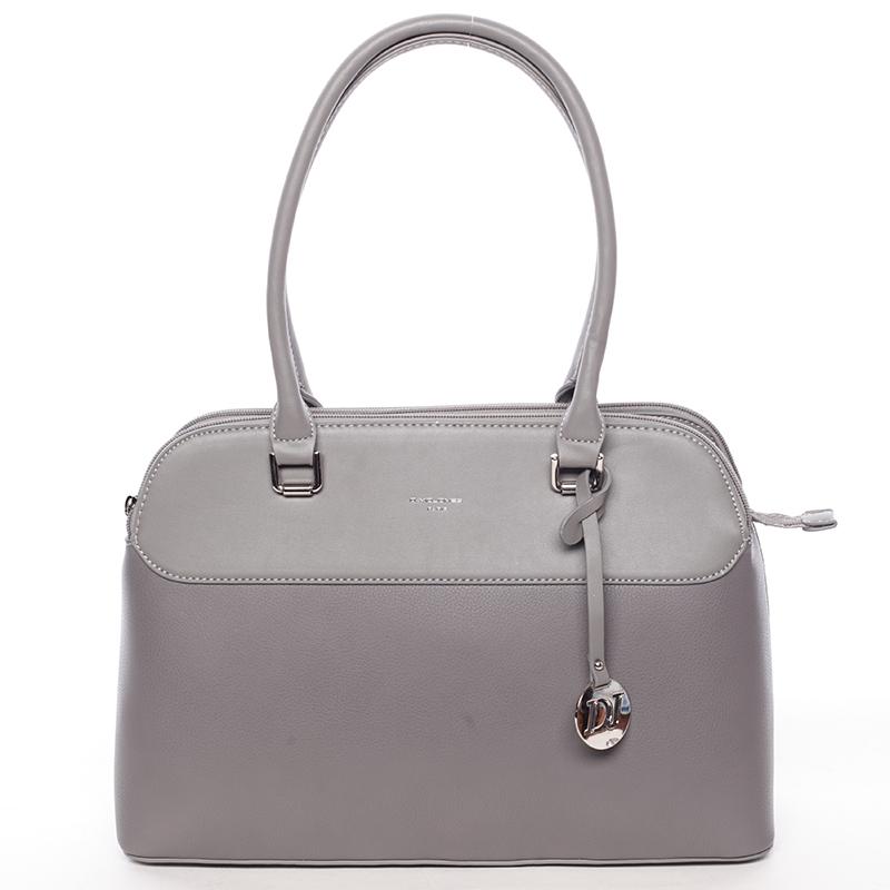 Originální větší dámská kabelka do ruky tmavě šedá - David Jones Tallianoa