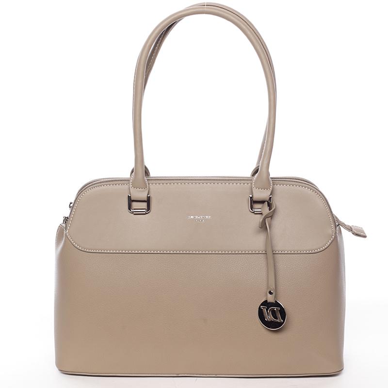 Originální větší dámská kabelka do ruky khaki - David Jones Tallianoa
