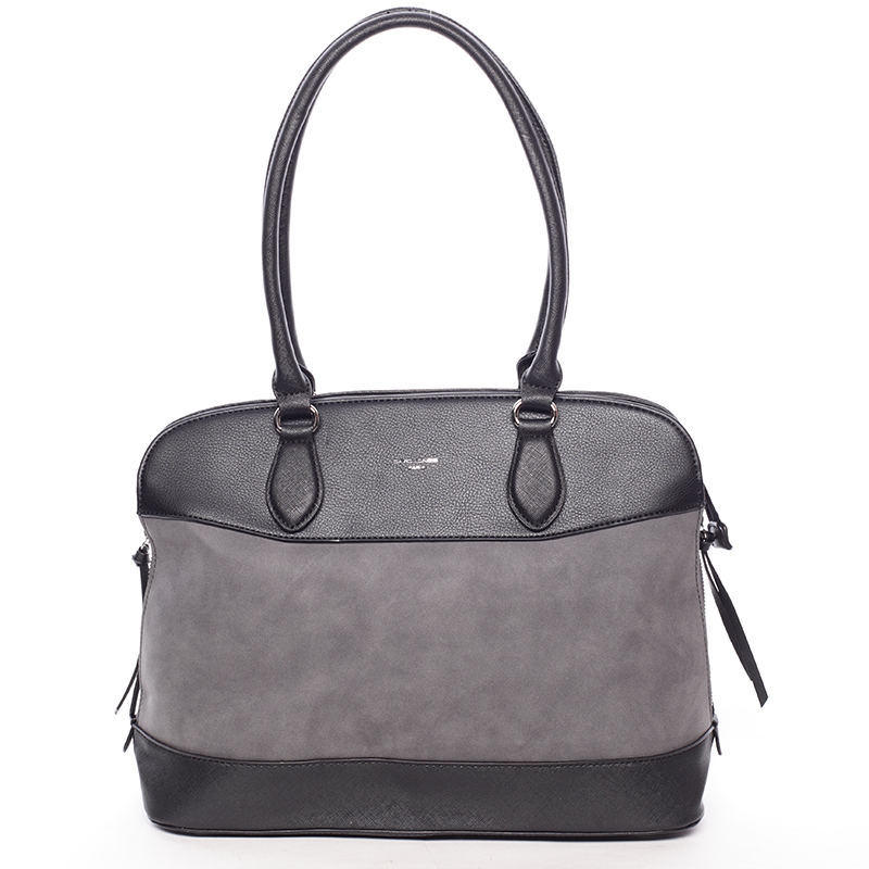 Černá elegantní a prostorná kabelka přes rameno - David Jones Talara