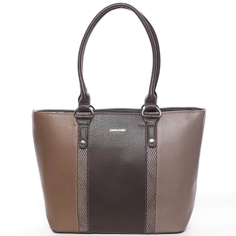 Luxusní dámská kabelka přes rameno hnědá - David Jones Habeka