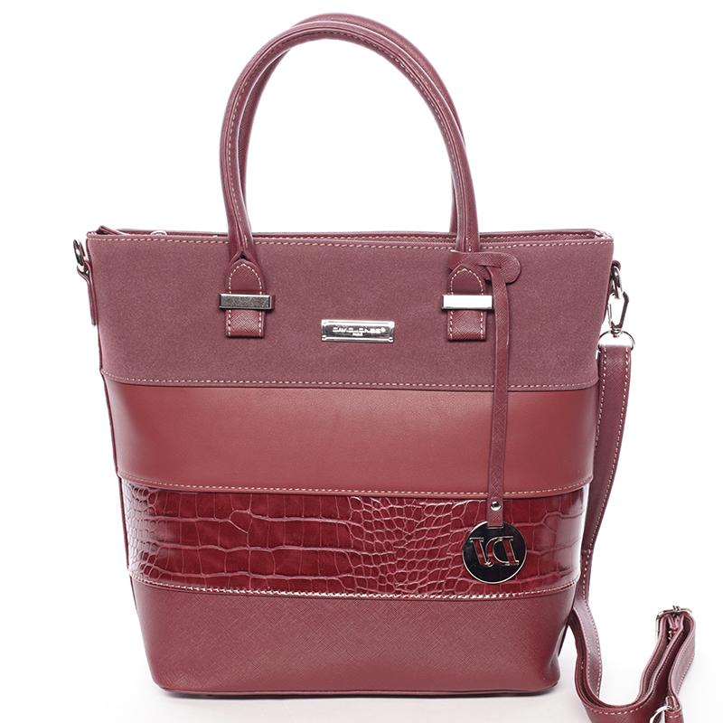 Luxusní dámská kabelka do ruky vínová - David Jones Osetie