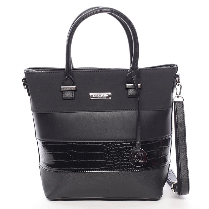 Luxusní dámská kabelka do ruky černá - David Jones Osetie