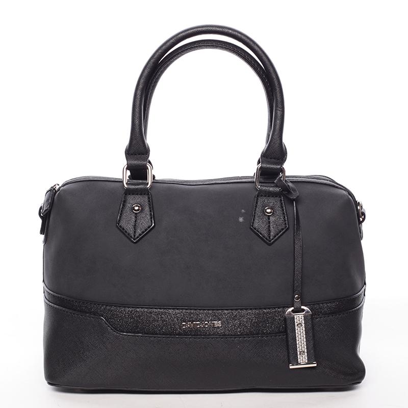 Trendy dámská kabelka do ruky černá saffiano - David Jones Terray