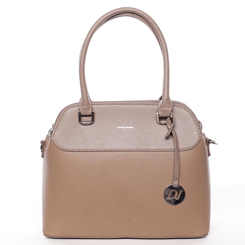 Originální jemná dámská kabelka do ruky camel - David Jones Tilianna