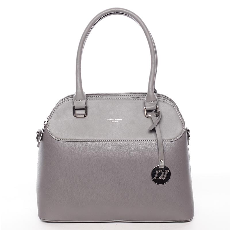 Originální jemná dámská kabelka do ruky tmavá šedá - David Jones Tilianna