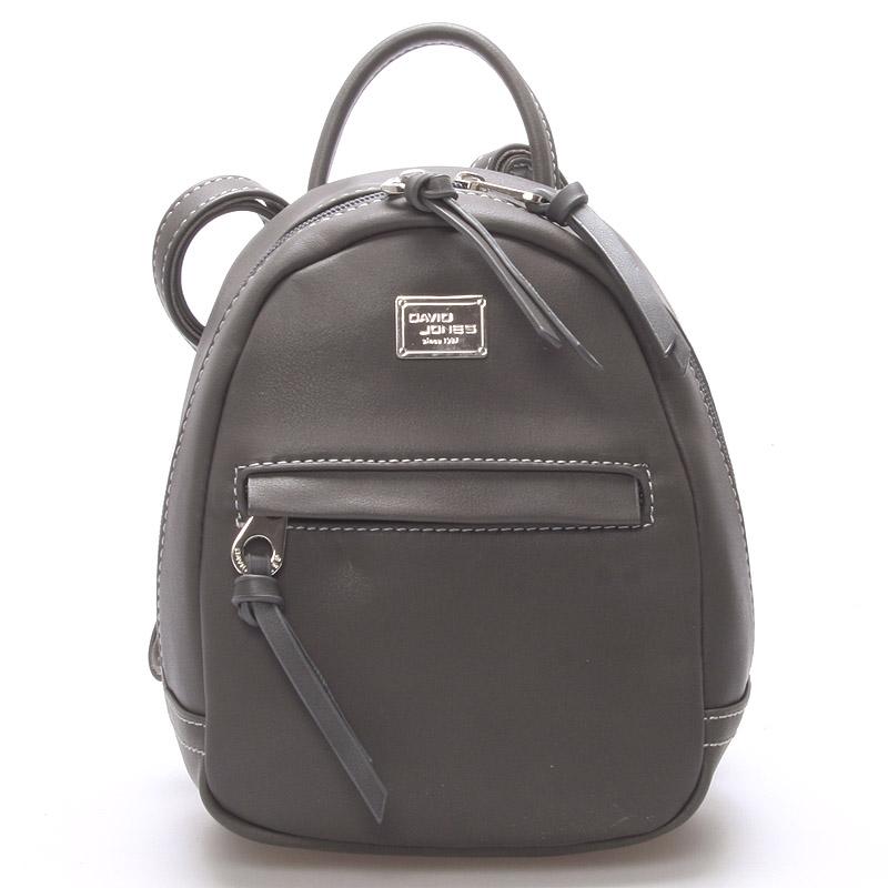 Malý dámský městský batůžek tmavě šedý - David Jones Encane