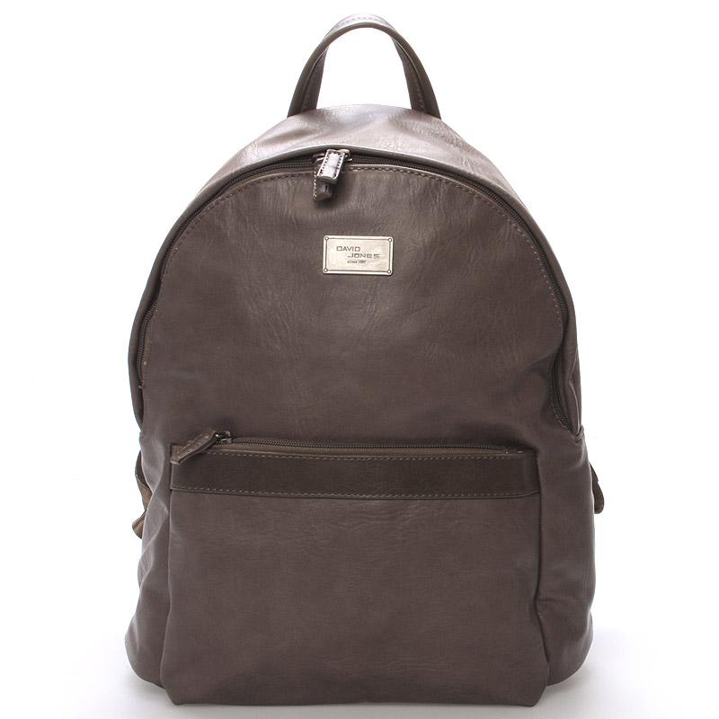 Dámský praktický batoh tmavě hnědý - David Jones Rullis
