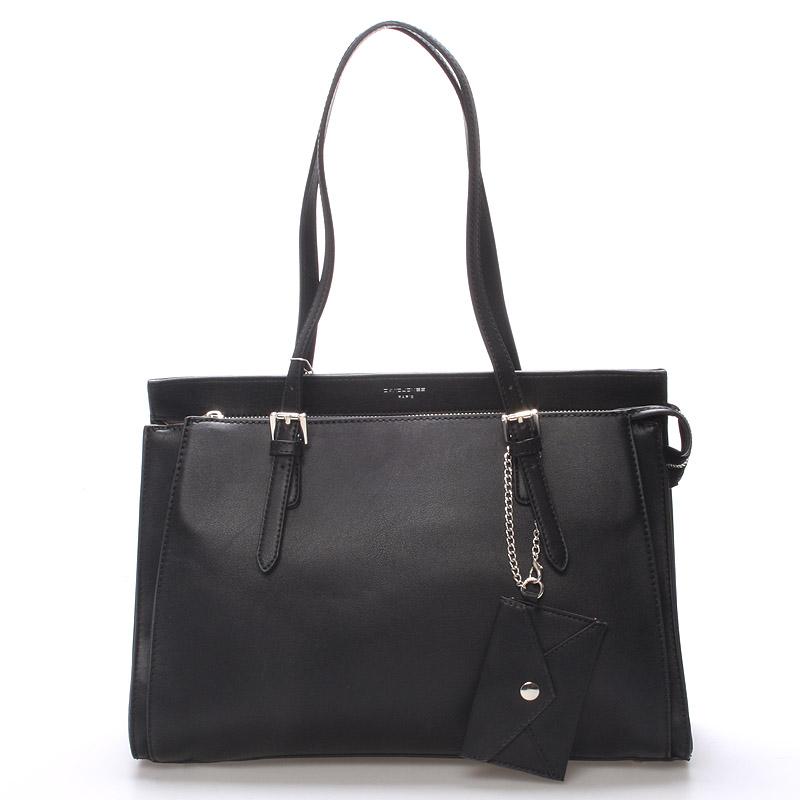 Elegantní černá dámská kabelka přes rameno - David Jones Dennise