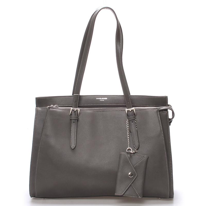Elegantní tmavě šedá dámská kabelka přes rameno - David Jones Dennise