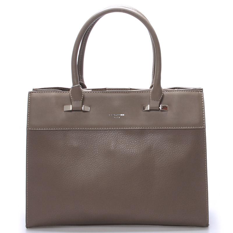 Dámská elegantní kabelka do ruky tmavá taupe - David Jones Arménie