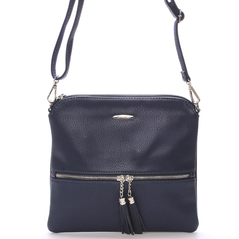 Originální dámská crossbody kabelka tmavě modrá - David Jones Sanna