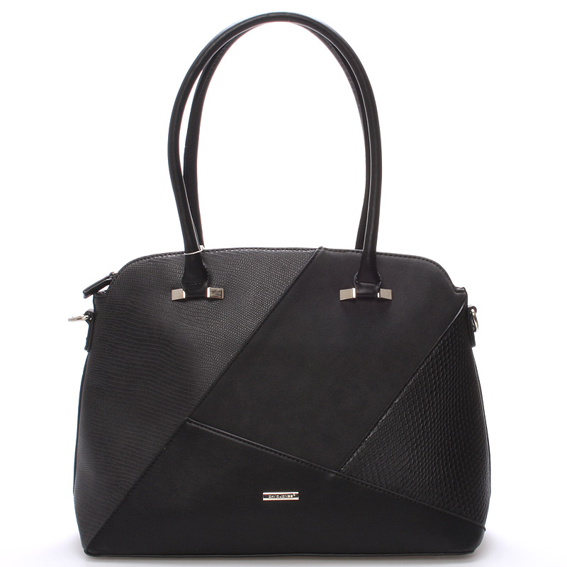 Elegantní černá dámská kabelka přes rameno - David Jones Manilou