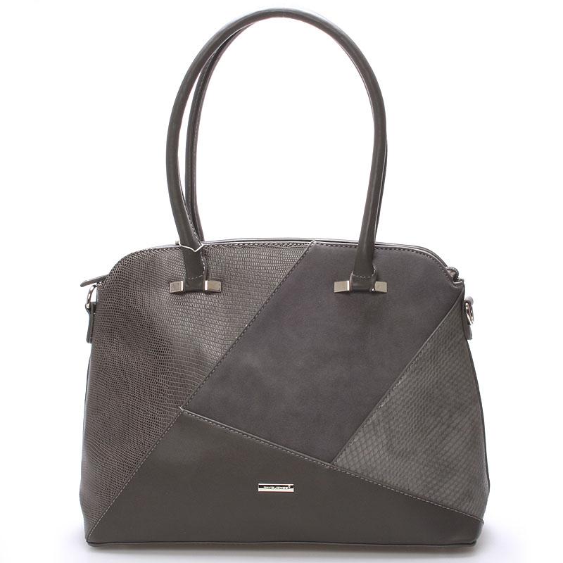 Elegantní tmavě šedá dámská kabelka přes rameno - David Jones Manilou