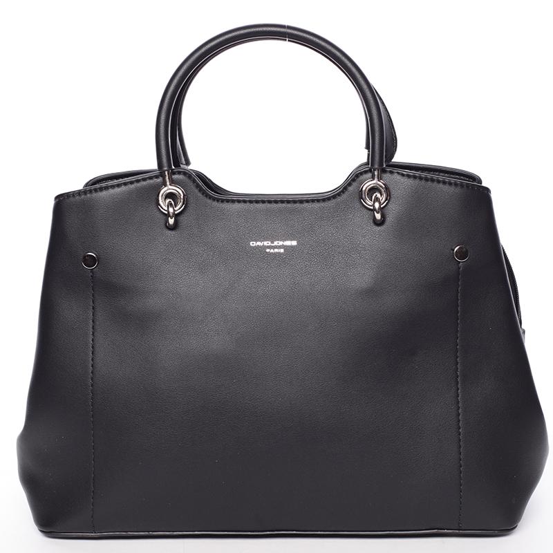 Trendy elegantní černá dámská kabelka - David Jones Stefania