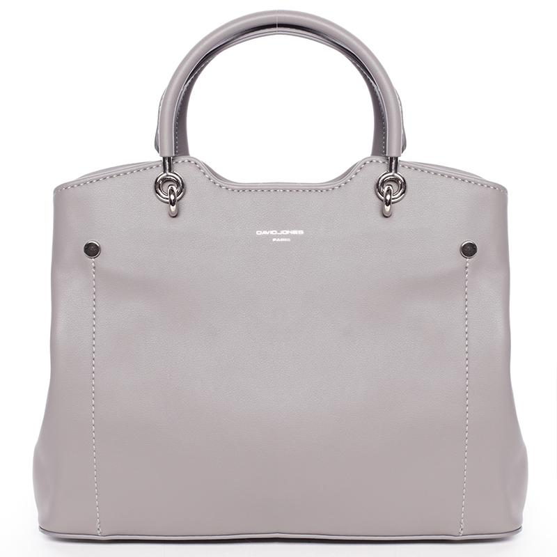 Trendy elegantní šedá dámská kabelka - David Jones Stefania