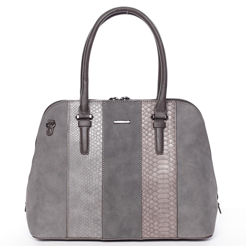 Luxusní šedá dámská kabelka do ruky - David Jones Gaia