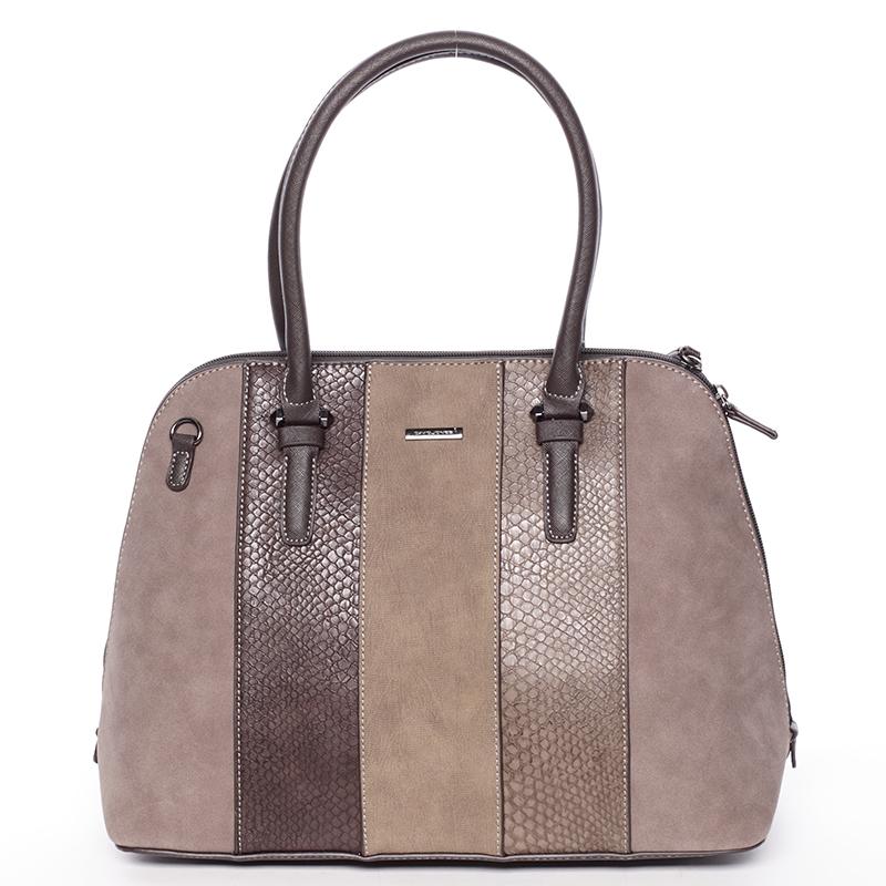 Luxusní hnědá dámská kabelka do ruky - David Jones Gaia