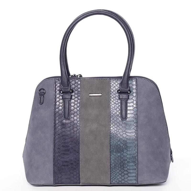 Luxusní tmavě modrá dámská kabelka do ruky - David Jones Gaia