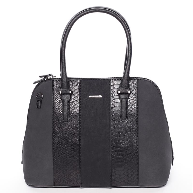 Luxusní černá dámská kabelka do ruky - David Jones Gaia