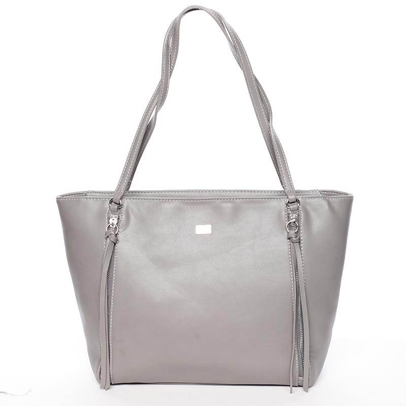 Elegantní šedá kabelka přes rameno - David Jones Paola