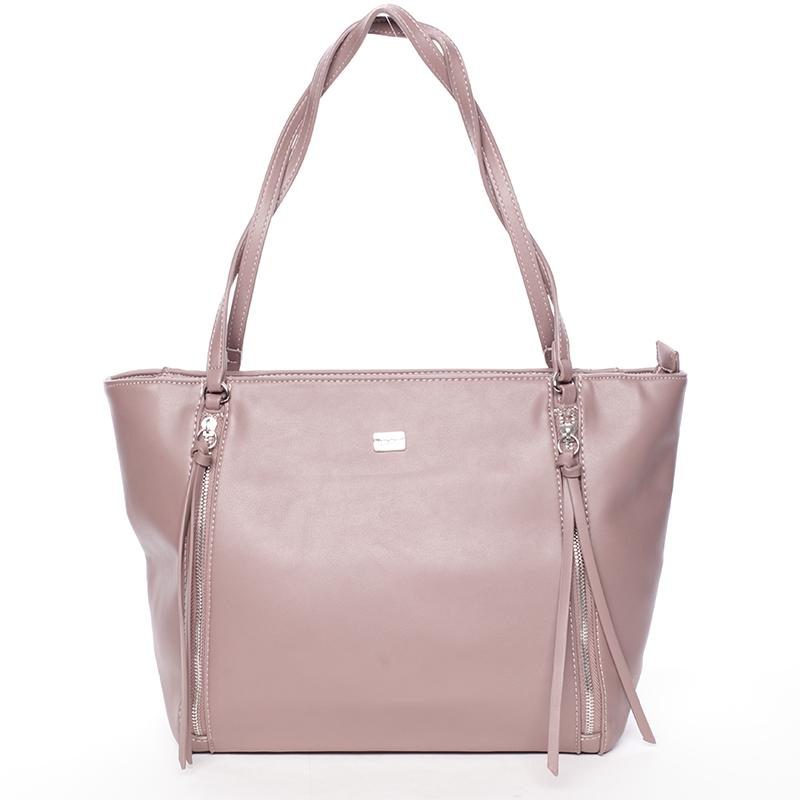 Elegantní růžová kabelka přes rameno - David Jones Paola