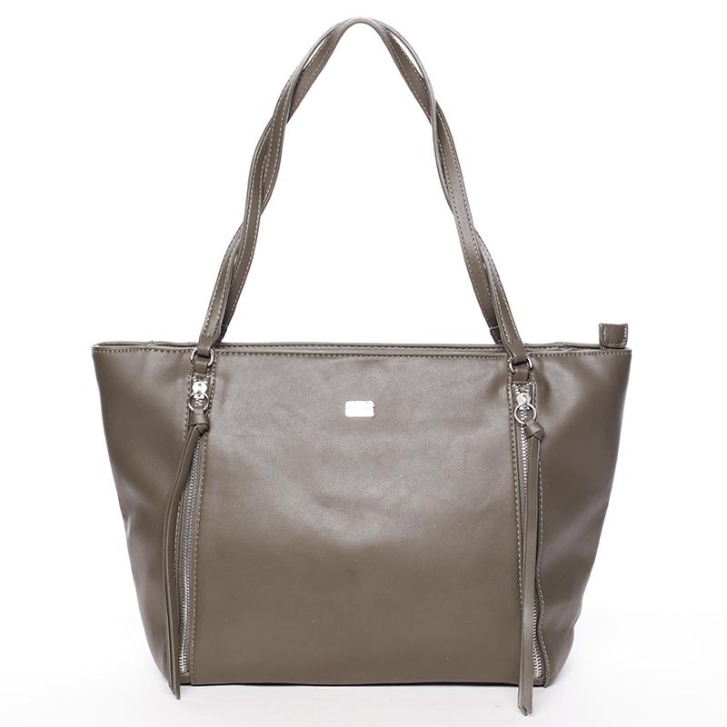 Elegantní khaki kabelka přes rameno - David Jones Paola