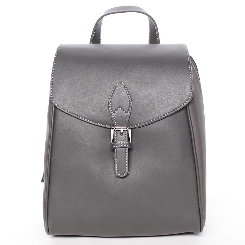 Dámský trendy městský batůžek šedý - David Jones Caterina