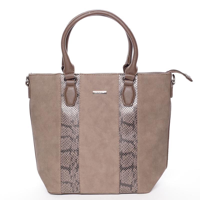 Moderní taupe dámská kabelka do ruky - David Jones Aria