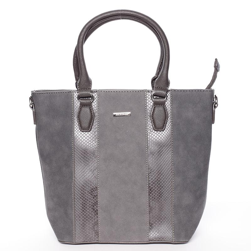 Moderní šedá dámská kabelka do ruky - David Jones Aria