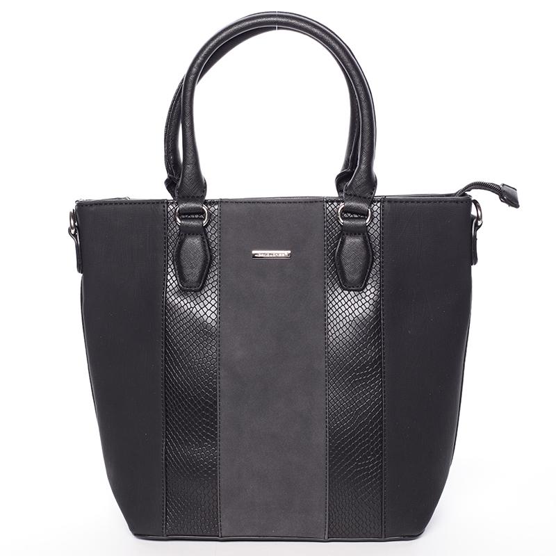 Moderní černá dámská kabelka do ruky - David Jones Aria