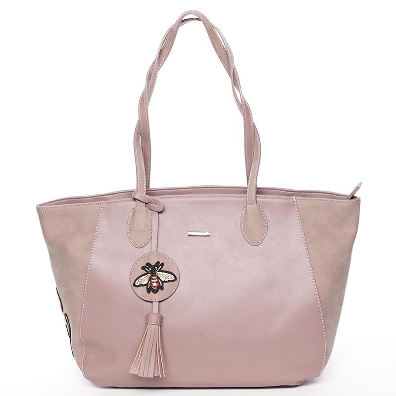 Nadčasová růžová kabelka přes rameno - David Jones Shelby