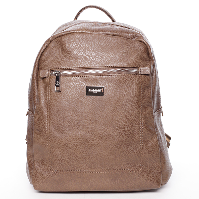Dámský větší měkký batoh hnědý - David Jones Kaitlyn