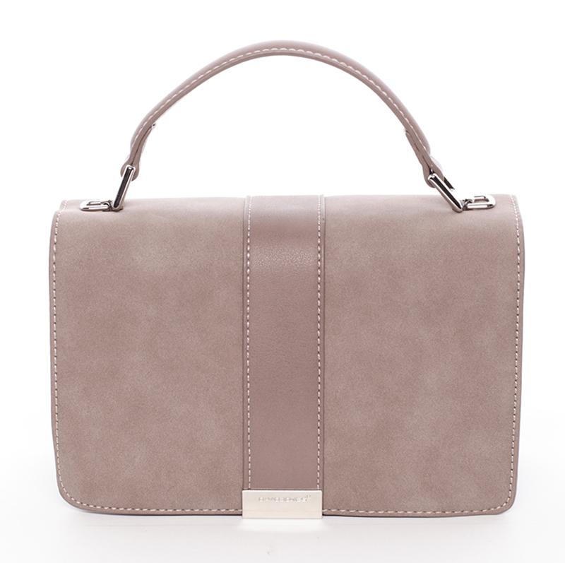 Elegantní společenská růžová dámská kabelka - David Jones Arianna