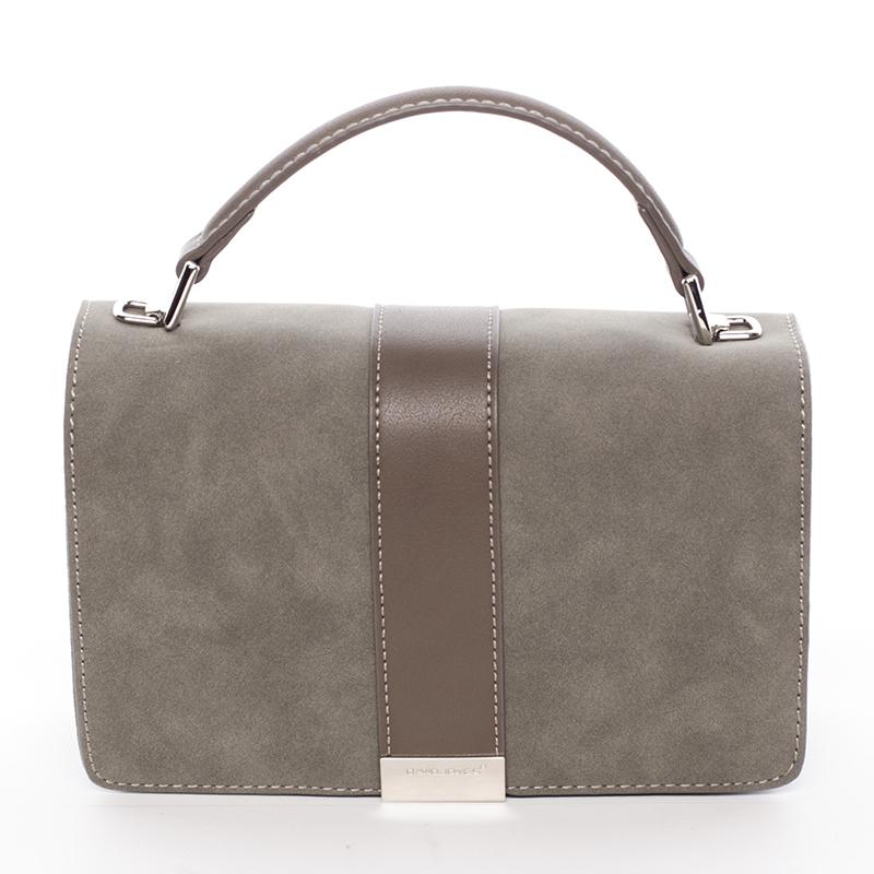 Elegantní společenská khaki dámská kabelka - David Jones Arianna