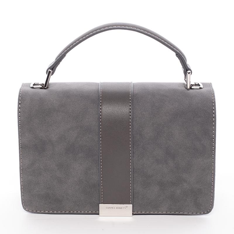 Elegantní společenská šedá dámská kabelka - David Jones Arianna
