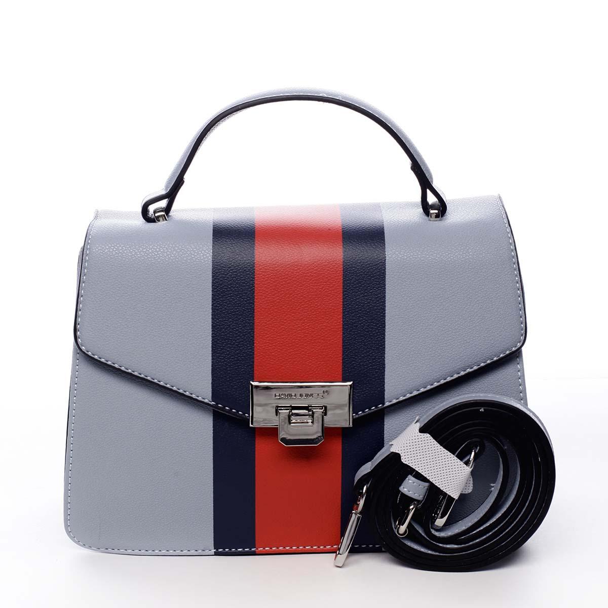 Exkluzivní menší dámská kabelka do ruky světle modrá - David Jones Shabana