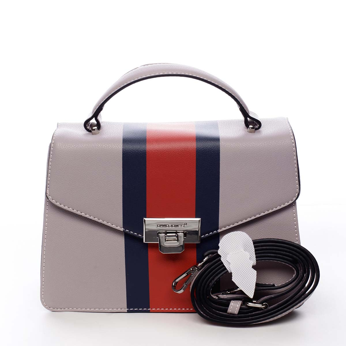 Exkluzivní menší dámská kabelka do ruky světle fialová - David Jones Shabana
