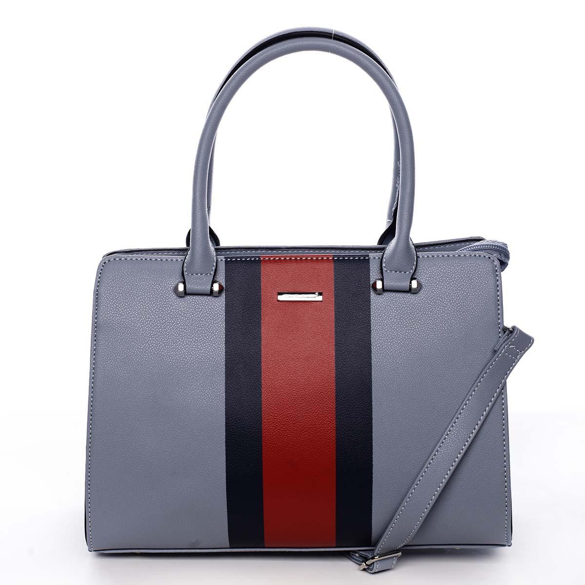 Exkluzivní dámská kabelka do ruky bledě modrá - David Jones Shabanax