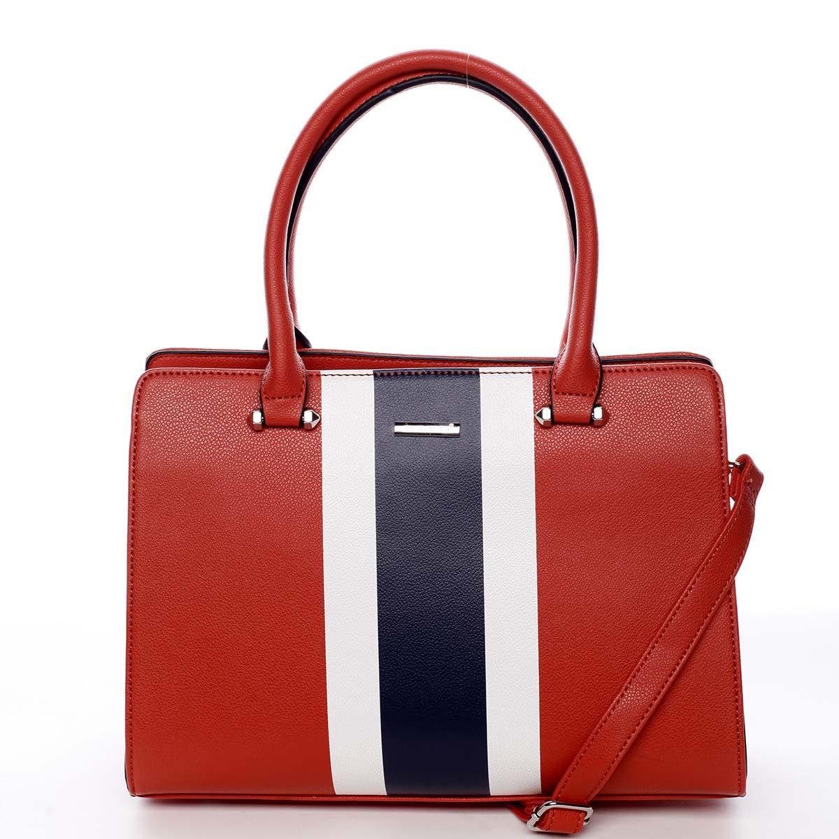Exkluzivní dámská kabelka do ruky červená - David Jones Shabanax