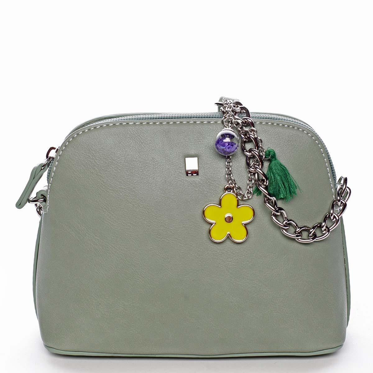 Malá elegantní crossbody kabelka bledě zelená - David Jones Trina