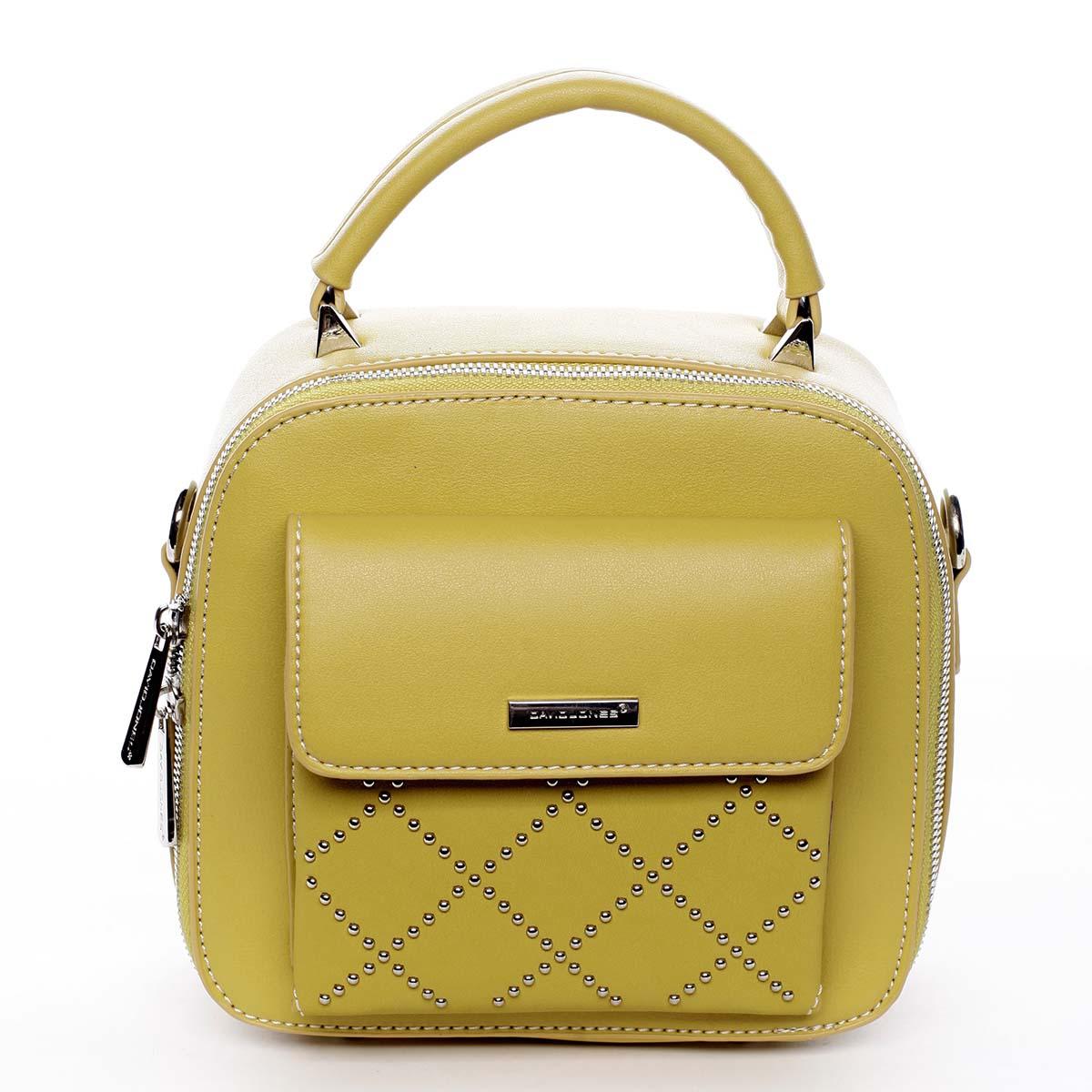Luxusní malá dámská kabelka do ruky žlutá - David Jones Stela