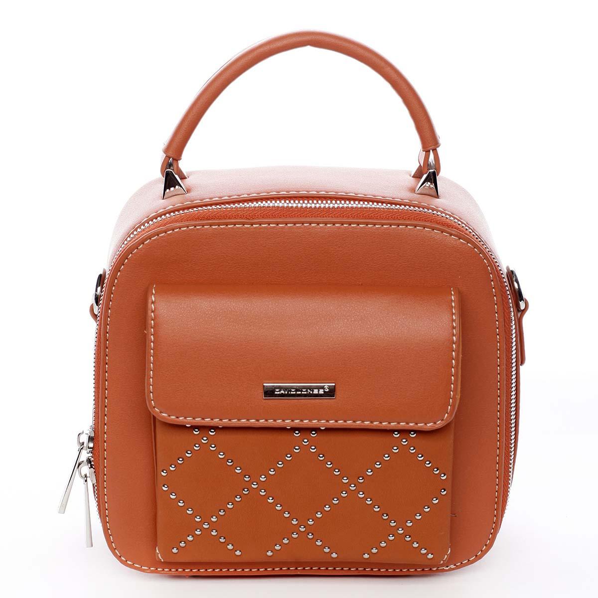Luxusní malá dámská kabelka do ruky oranžová - David Jones Stela