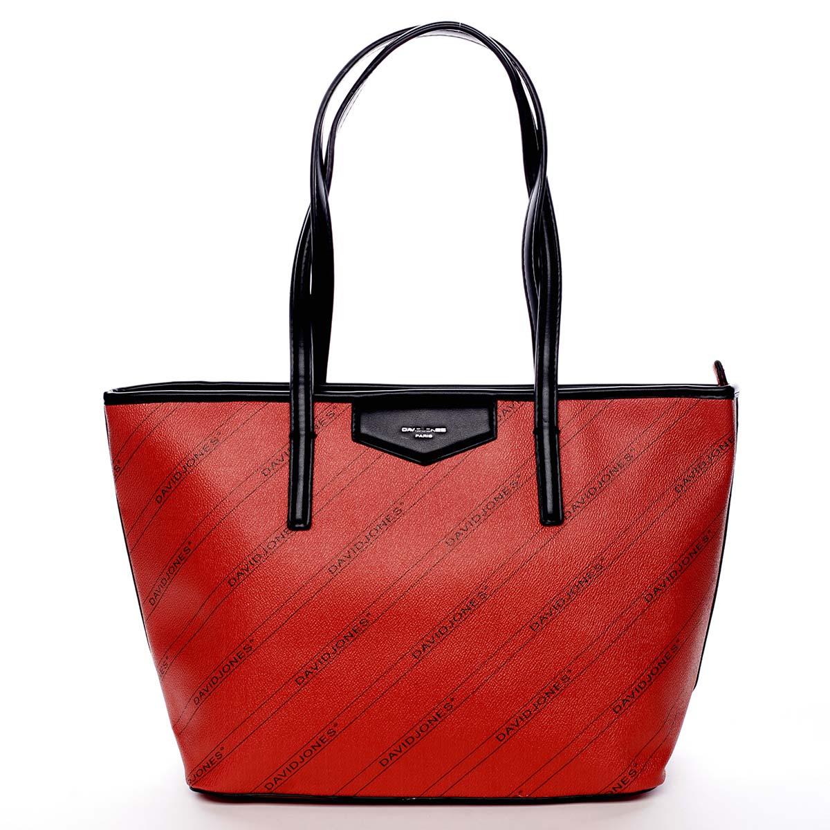 Velká červená moderní kabelka přes rameno - David Jones Abisag