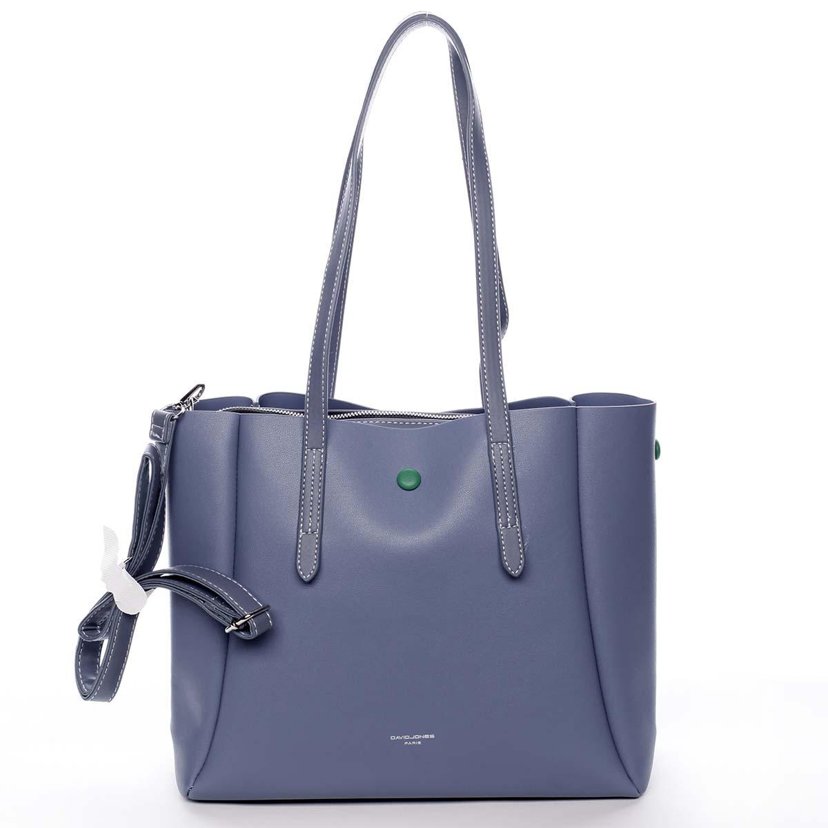 Módní dámská modrá kabelka přes rameno - David Jones Praline