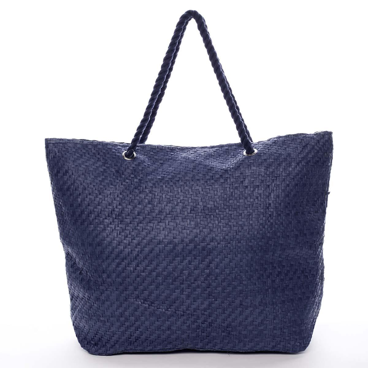 Luxusní plážová taška modrá - Delami Straw
