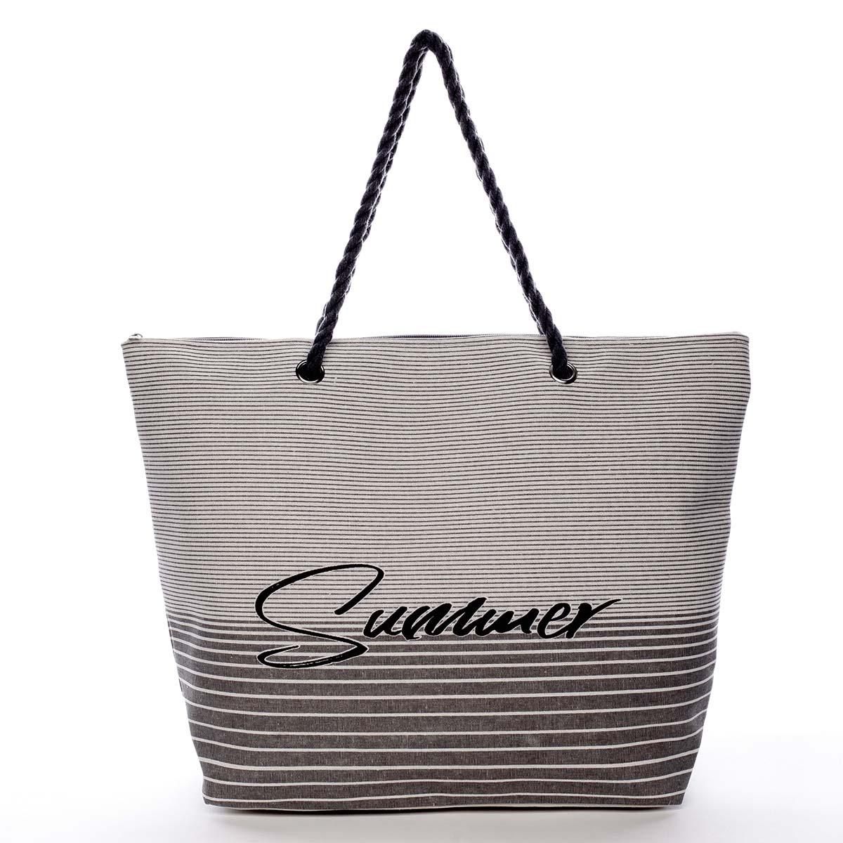 Módní plážová taška šedá - Delami Summer